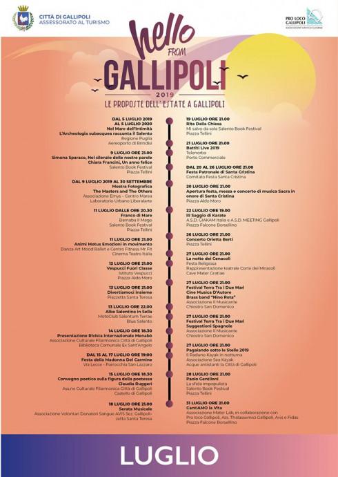 Calendario Alba Tramonto 2020.Comune Di Gallipoli Hello From Gallipoli 2019 Il Nuovo